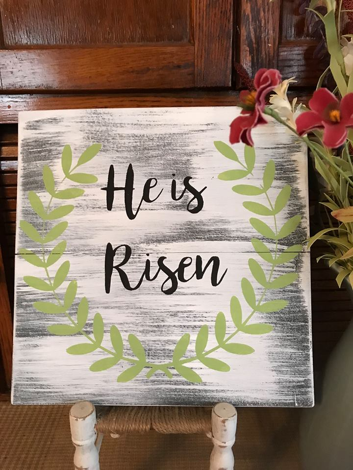 He Is Risen Sign - His Words I Speak